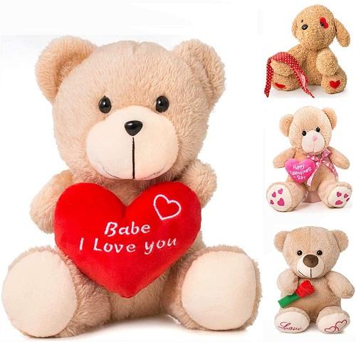 "Valentine's Day Bear 9""Valentines Gift for Girlfriend, Boyfriend, Plush Stuffed Animal (Baby - I Love You)"